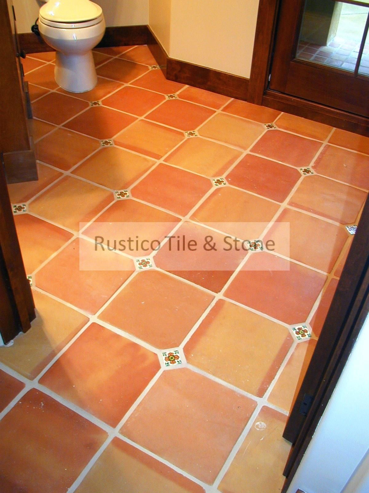 Terradyne Rustic Red Terracotta Floor Tiles Traditional Style