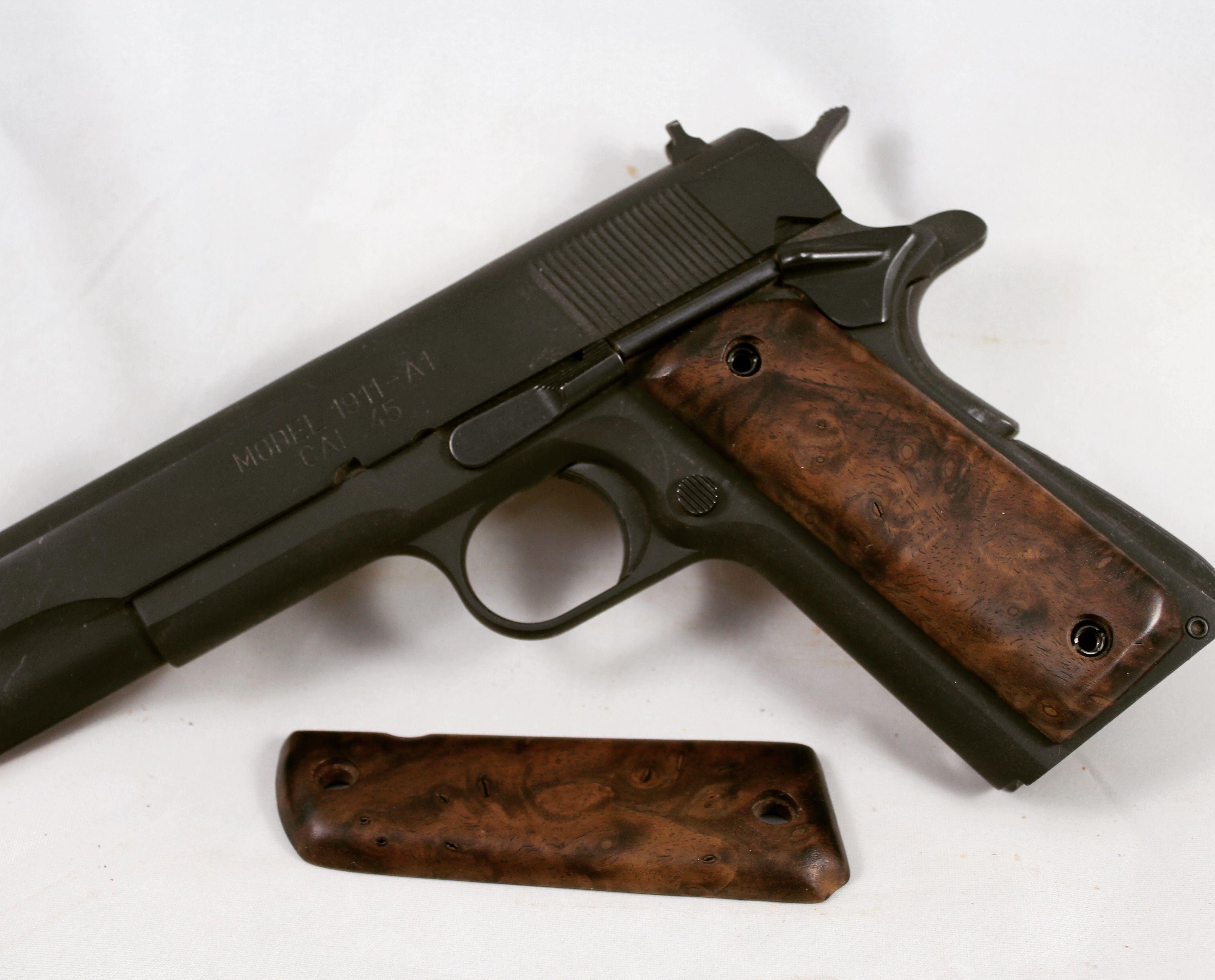 Walnut wood grips  Forsale gun guns custom wood 1911 survival