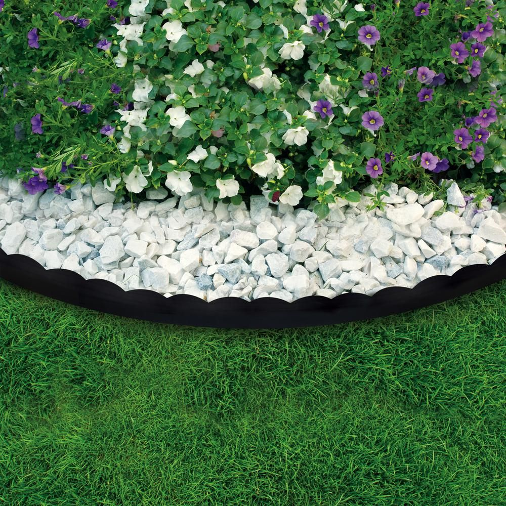Vigoro 40 Ft Scalloped No Dig Edging Kit 3011 40hd 4 The Home Depot Landscape Edging Landscaping Inspiration Landscaping With Rocks