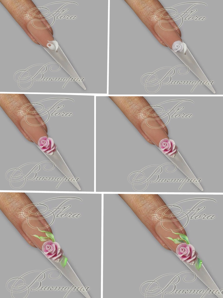 3d Acrylic Flower Nailart Tutorial Nails Pinned By Www