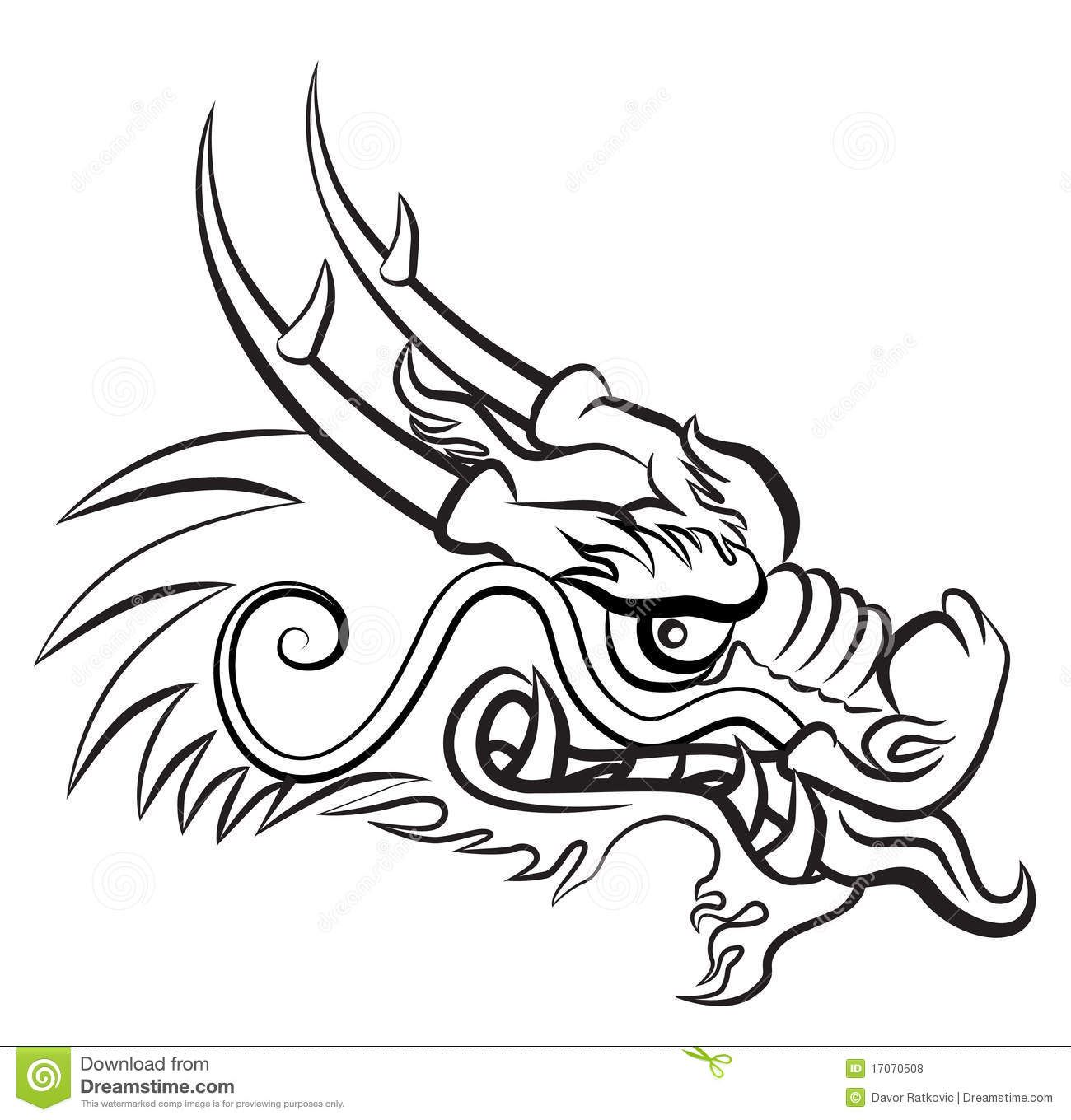 chinese dragon drawing easy - photo #15