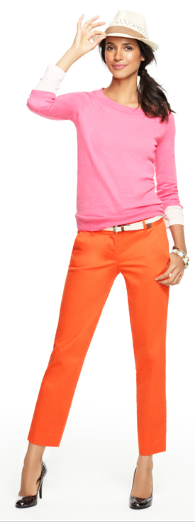 color blocking, love this outfit.