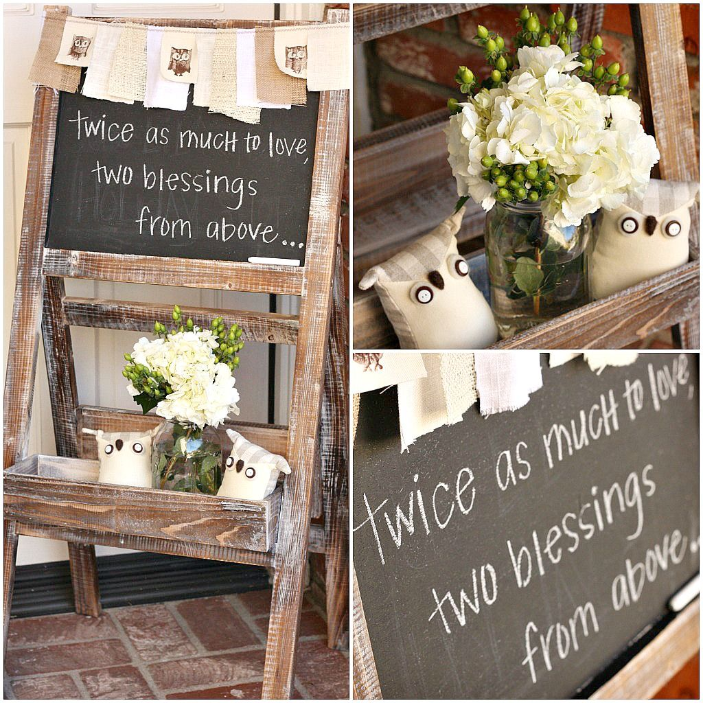 Rustic Owl Baby Shower Decorations www.thelilcupcake.net # ...
