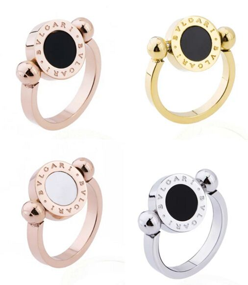 bulgari bulgari flip ring features a rotating disc with diamonds on one side and mother of