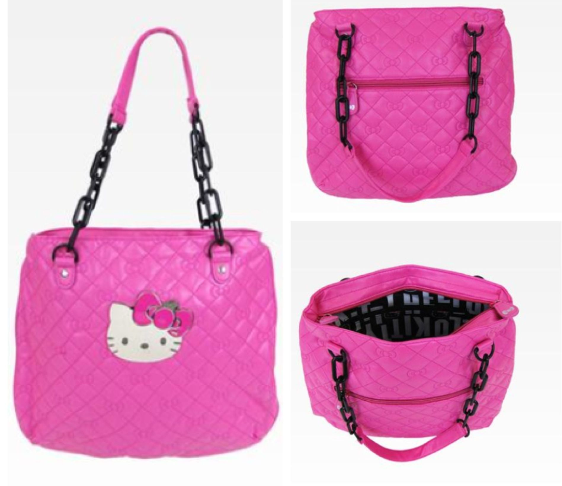 b10fd00c1f Head out in style with this lovely Hello Kitty Shoulder Tote Bag. This  zipper closure