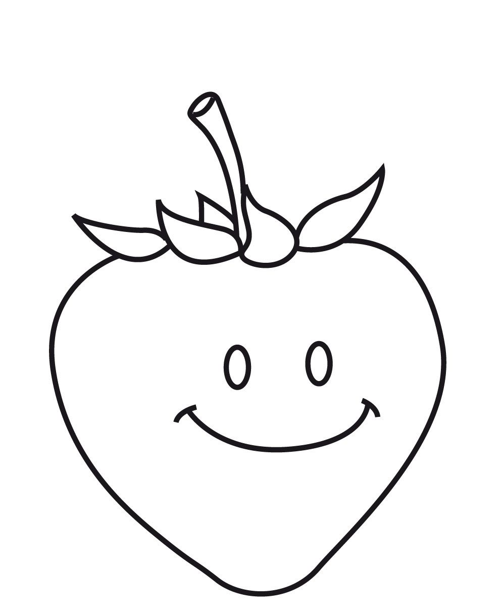 Anasinifi Cilek Boyama Sayfasi 1 Fruit Coloring Pages
