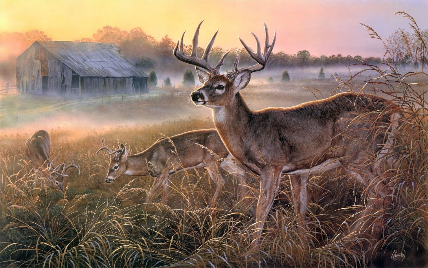 The Boys Club By Al Agnew Wildlife Art Pinterest