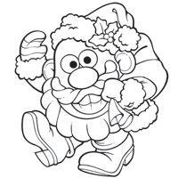 Mr Potato Head Santa Spud Coloring Page Coloring Pages Toy Story Coloring Pages Dog Coloring Page