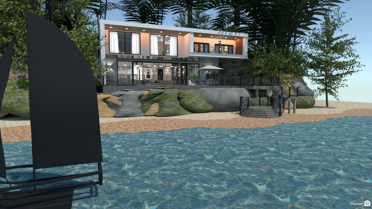 Gone beach house Free line Design