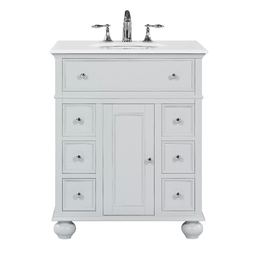 Home Decorators Collection Hampton Harbor 28 In W X 22 In D In Dove Grey Bath Vanity With Natural Marble Vanity Top Marble Vanity Tops White Sink Vanity Sink