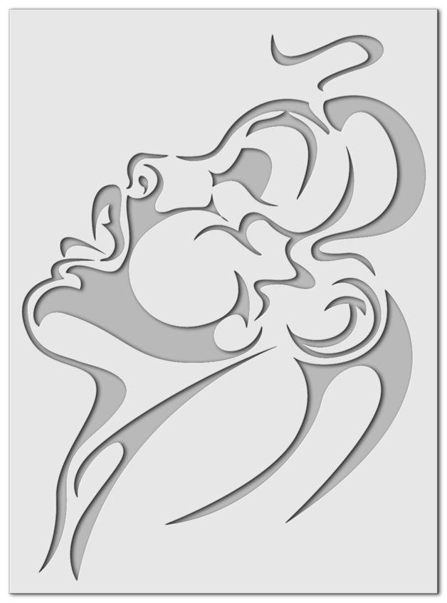Stencil Wandschablone Sinnlichkeit Etsy Wandschablonen Schablonen Schablonenkunst