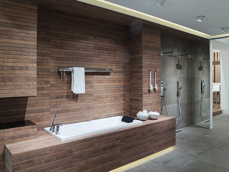 Technology The Focus In Bathroom Design By Noken Porcelanosa Classy Bathroom Design Showroom