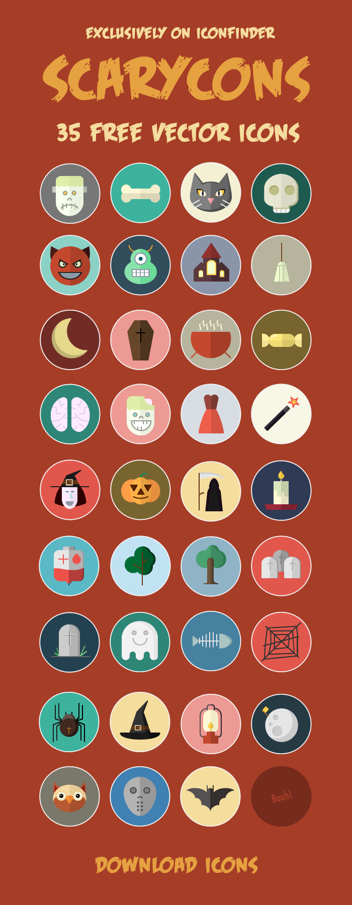 35 Free Vector Halloween Icons — Exclusively on Iconfinder
