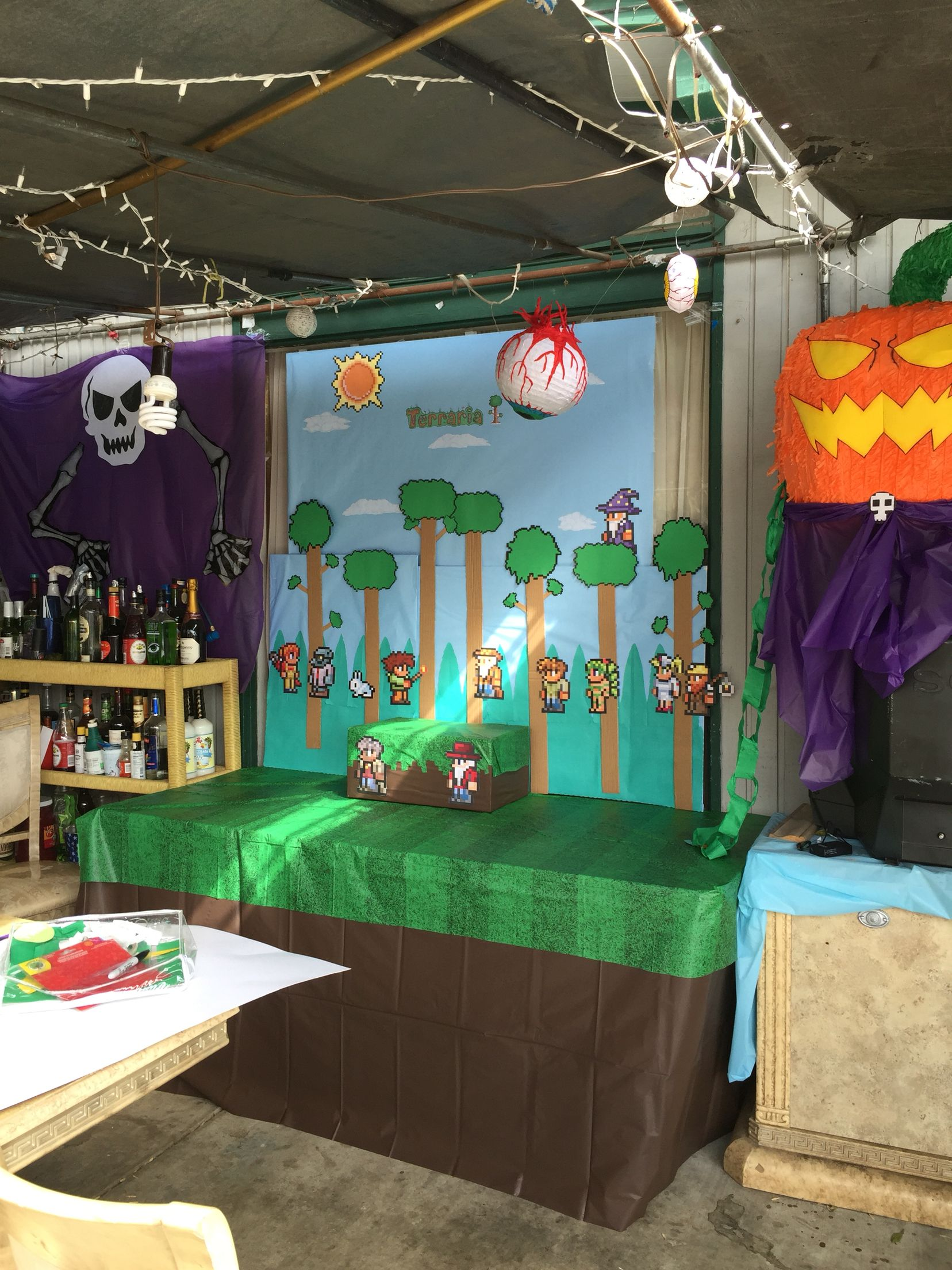 diy terraria party | terraria birthday | pinterest | party