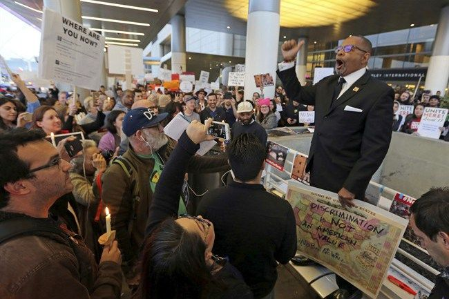 Donald Trump's travel ban sparks protests, confusion for green card holders at US airports