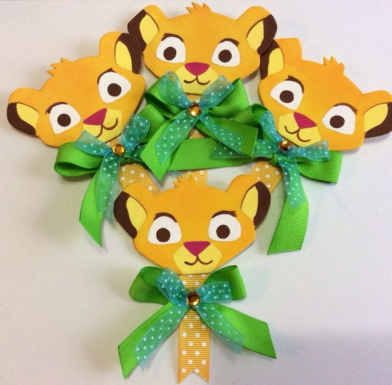 Lion King Baby Shower Pins By Marshmallowfavors On Etsy, $30.00