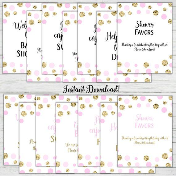 Pink And Gold Baby Shower Signs 14 Baby Shower Signs Girl Baby