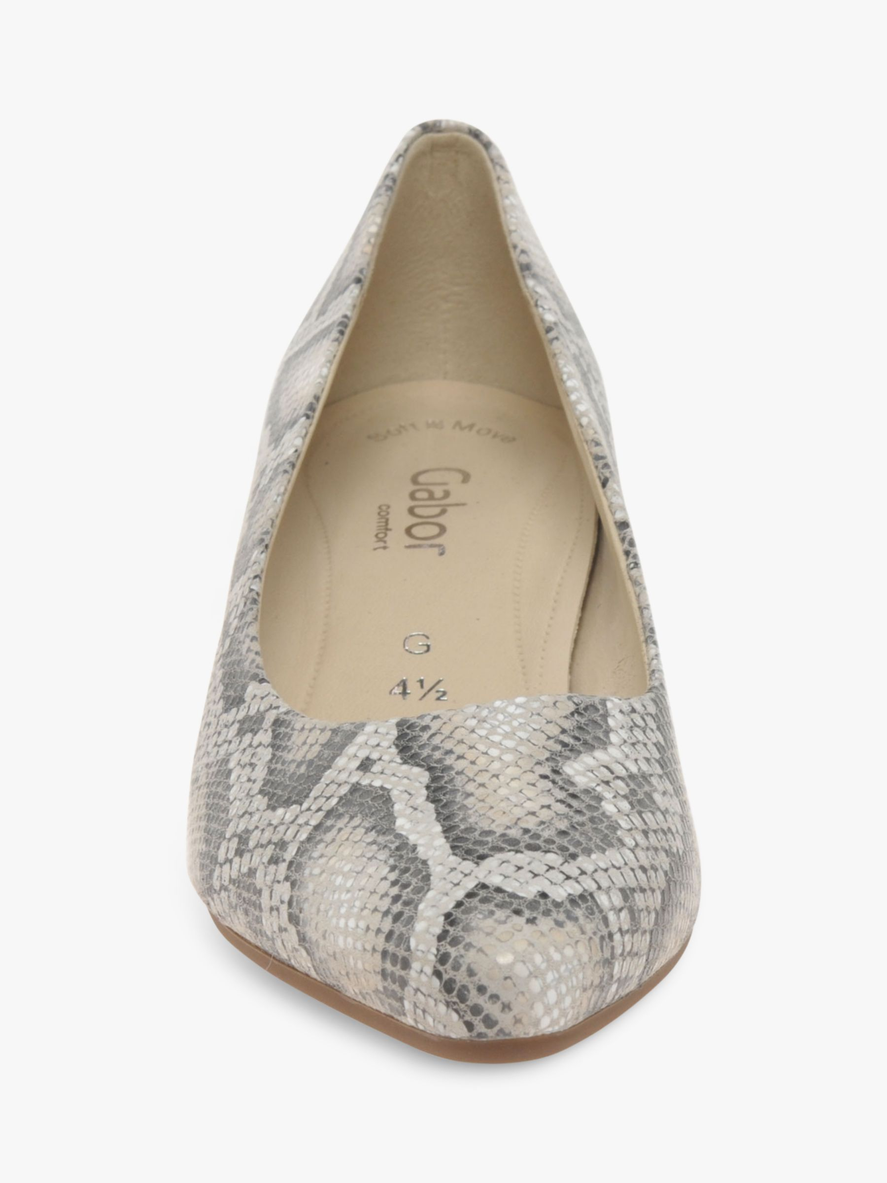 Gabor Delia Wide Fit Snakeskin Leather