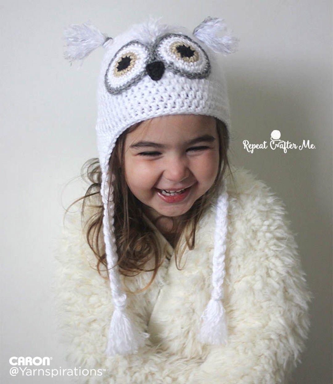 Snowy Owl Crochet Hat - Patterns | Yarnspirations | Crochet Patterns ...
