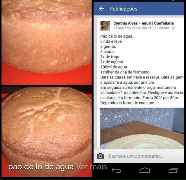 Pão de ló de água