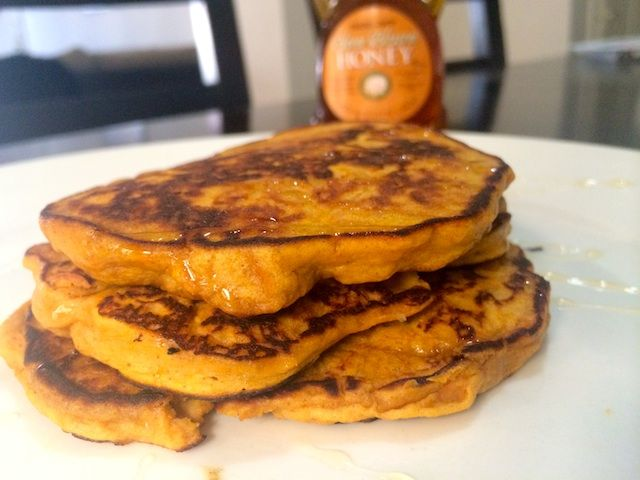 3 crazy good 3 ingredient pancakes sweet potato pancakes potato sweet potato pancakes i used pb2 instead of peanut butter and added a teaspoon of coconut oil ccuart Images