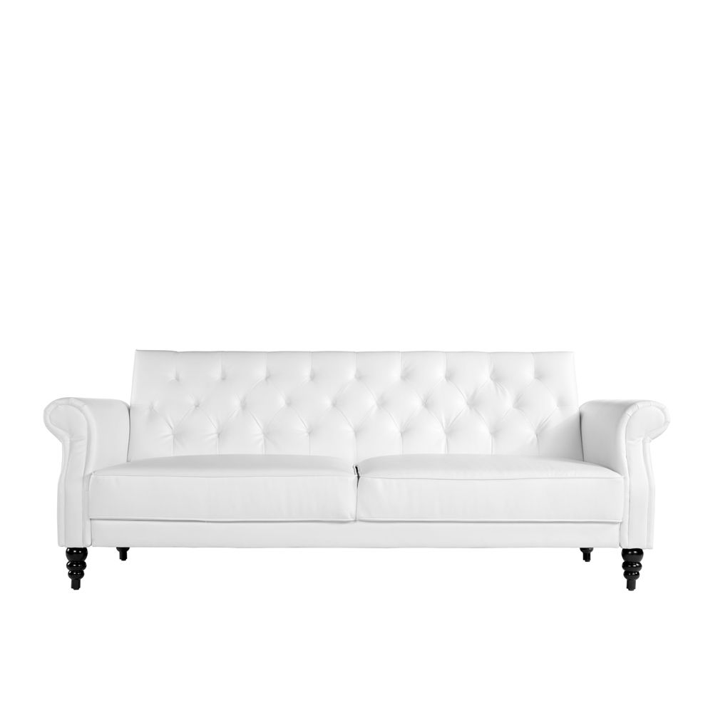 Buy Luxo Arboga 3 Seater Sofa Bed White Online Australia With Images Online Furniture Stores White Bedding