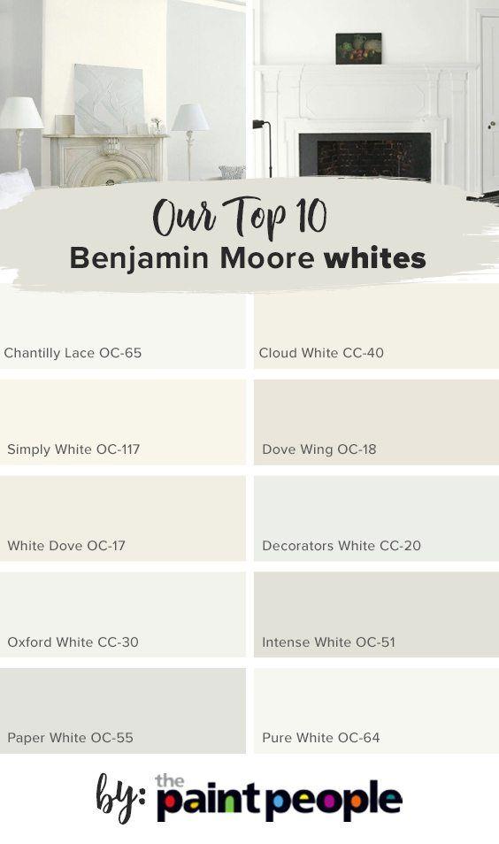 Benjamin Moore Simply White: List Of Top 10 Benjamin Moore Whites By The Paint People