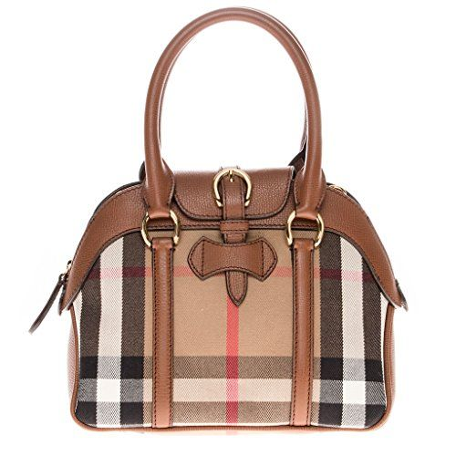 da7b6d75a206 Burberry Womens Small Milverton House Check Satchel Tan     Click image for  more details.Note It is affiliate link to Amazon.