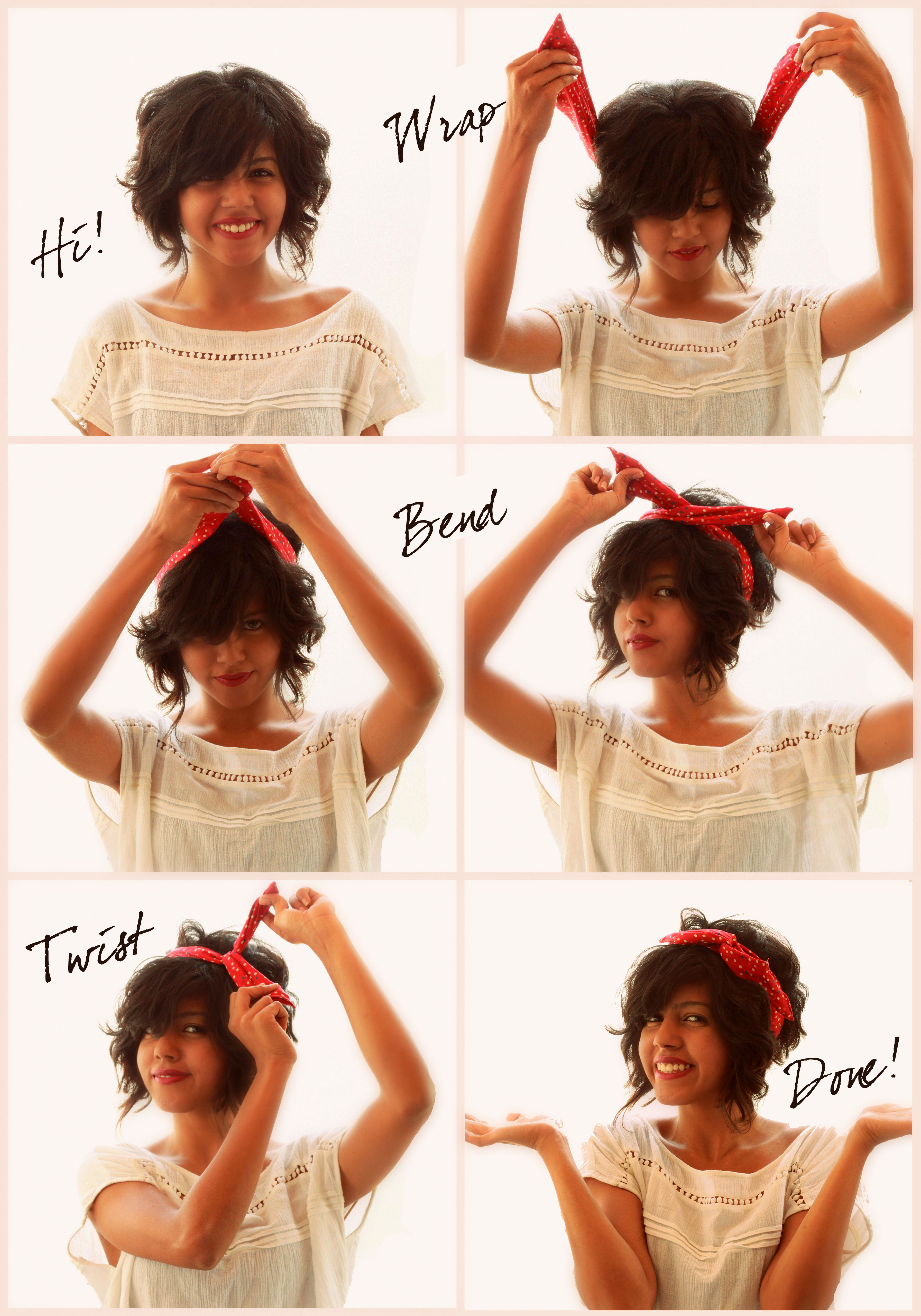 How to wear a Wire Fabric Headband Bendy