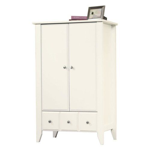 Sauder Shoal Creek Armoire   Soft White For Only $145.96
