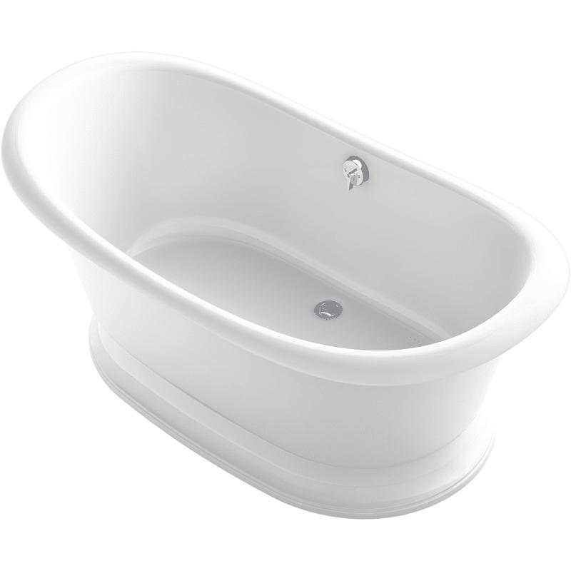 Kohler K 21000 W Artifacts 67 Free Standing Cast Iron Soaking Tub