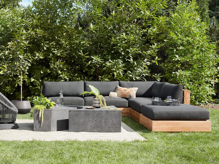 Bal Harbour Outdoor Five Piece L Shaped Sectional Arhaus Furniture Teak Outdoor Outdoor Furnishings