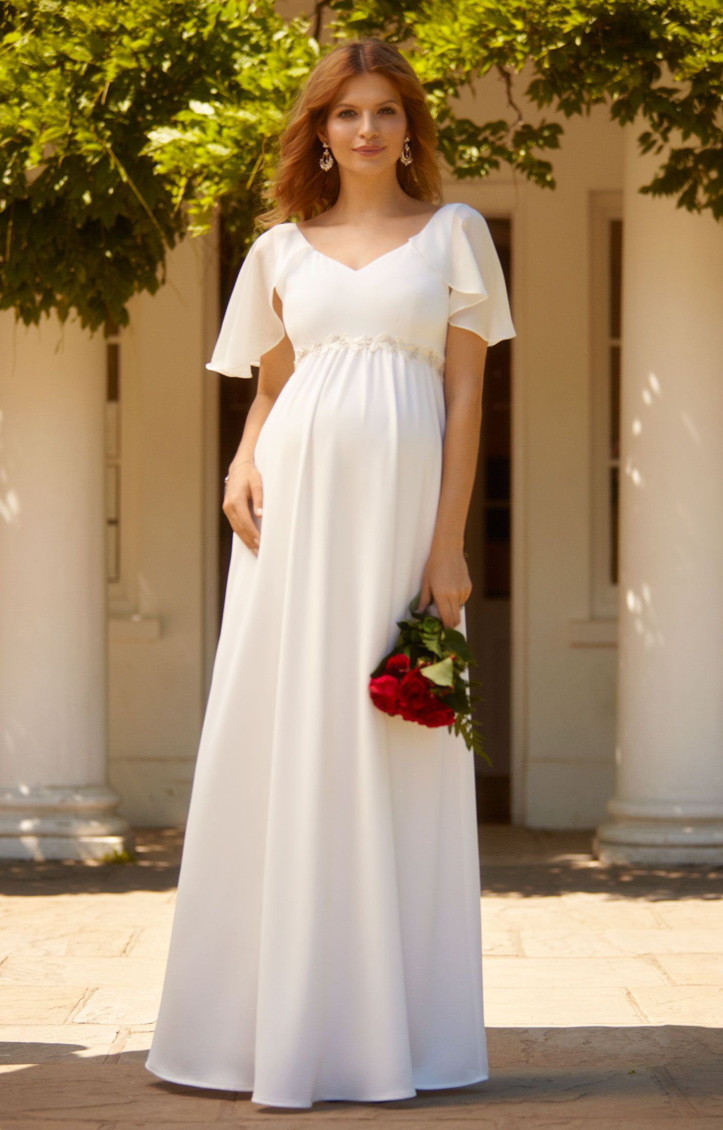 Our vintage Everly maternity gown evokes the effortless glamour of ...