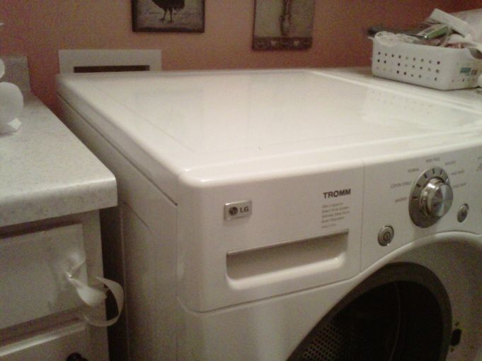 How to install countertop over washer and dryer img00099 for Laundry room countertop over washer and dryer