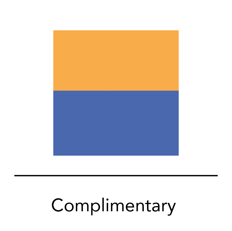 #2: Complimentary colors are opposite on the color wheel.