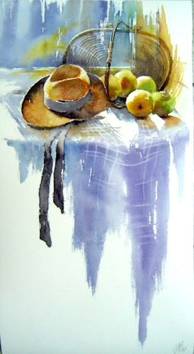 Nature Morte Au Chapeau Nature Morte Nature Morte Aquarelle