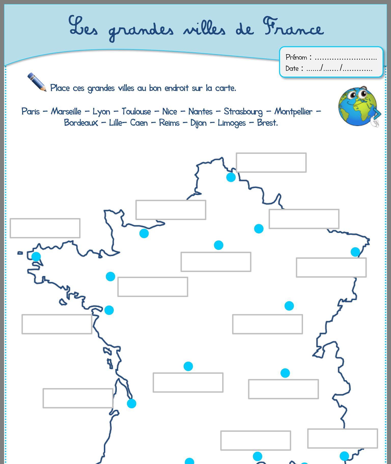 Les Grandes Villes En France Ville France Geographie