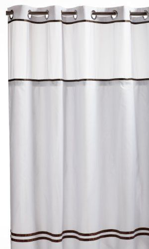 Hookless Fabric Shower Curtain With Built In Liner Fabric Shower