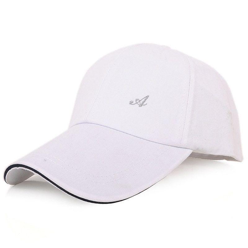 d4ac6ceb748 Mens Brief Summer Cotton Embroidery Baseball Hat Casual Sports Sunscreen  Visor Caps