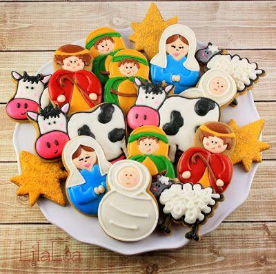 Lilaloa Nativity Cookies Christmas Treats Recipes Christmas
