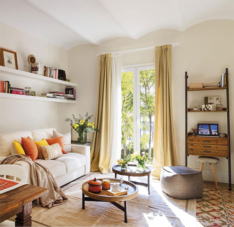 Sunny Spanish Apartment With Vintage Decor 60 Sqm Photos Ideas Design Apartment Living Room Design Spanish Home Decor Colorful Apartment Decor