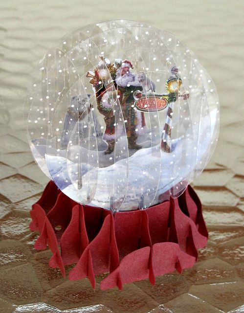 Snow Globe By All Things Paper Via Flickr Christmas Paper Crafts Snow Globes Christmas Crafts