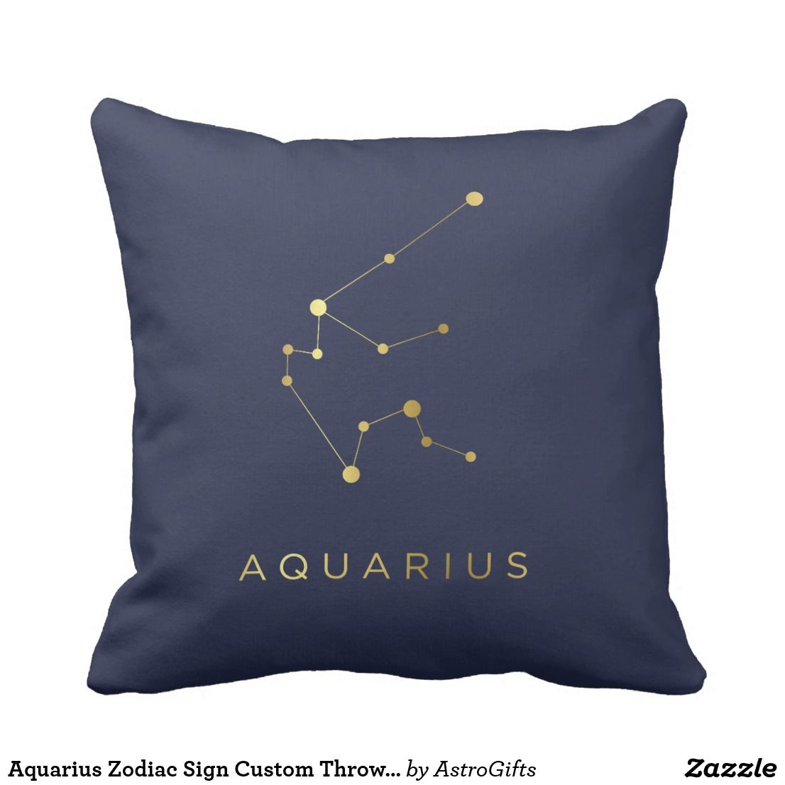 Aquarius Zodiac Sign Custom Throw Pillow Decor