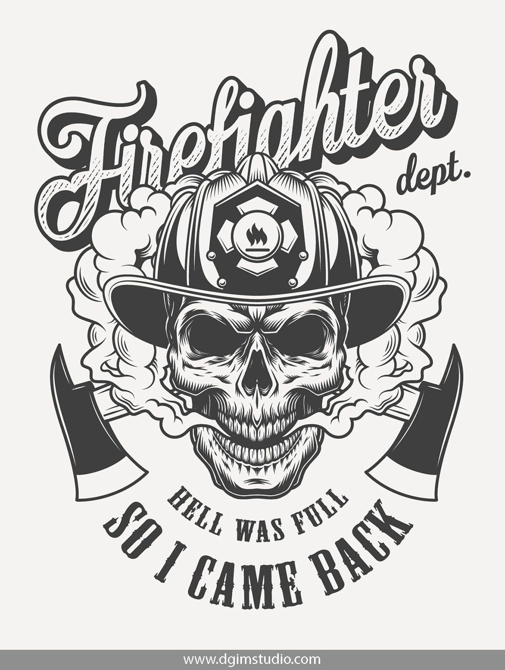 Skull creator Firefighter, Fireman tattoo, Firefighter