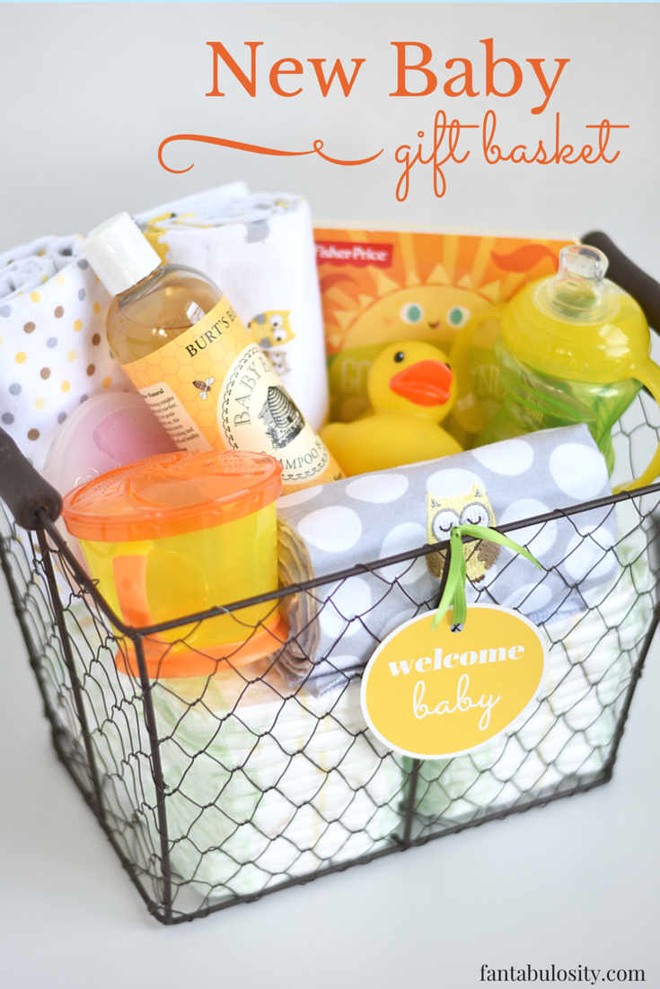 Diy new baby gift basket idea and free printable basket ideas diy new baby gift basket idea and free printable fantabulosity solutioingenieria Gallery