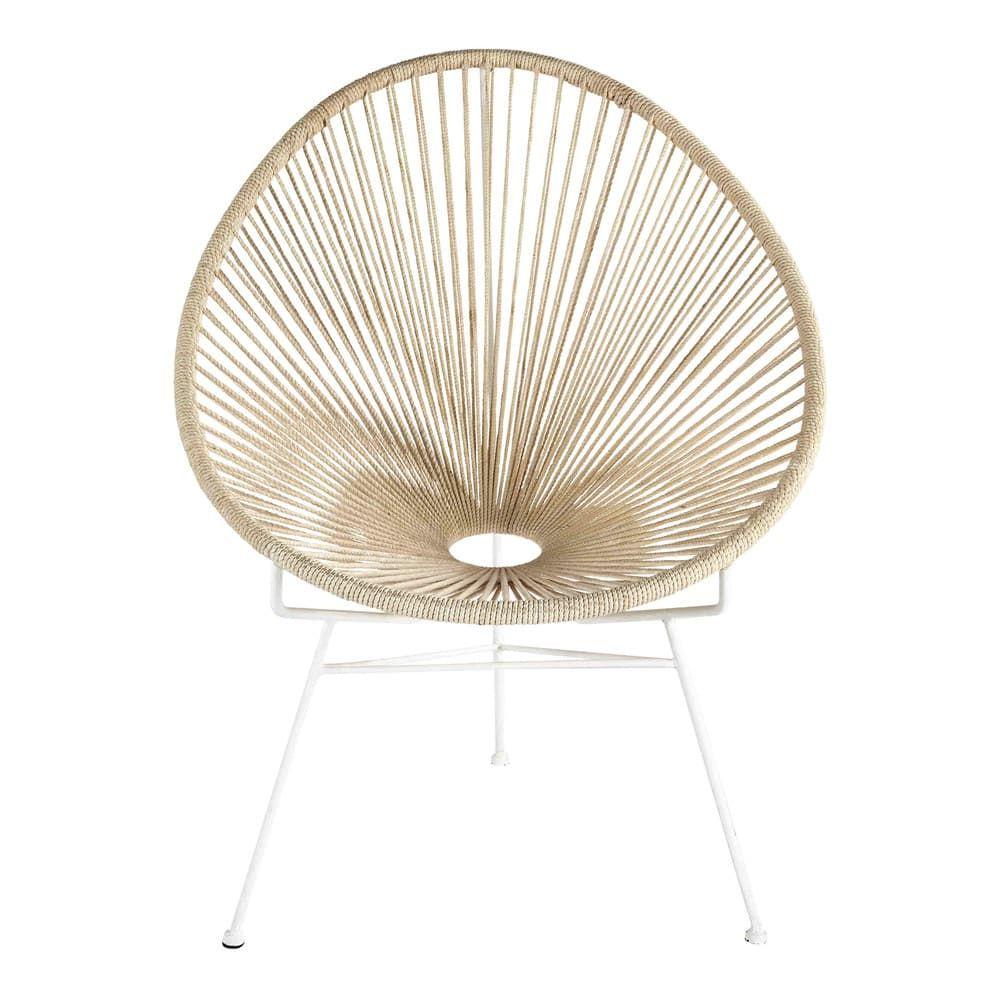 Sessel Aus Baumwollschnuren Und Metall Weiss Sessel Metall Und Schnur