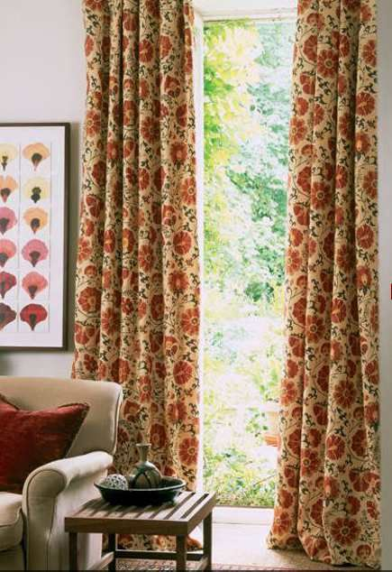 Curtains Made From Lewis Wood Zarafshan Suzani Linen Fabric Red Curtains Bedroom Red Curtains Curtains