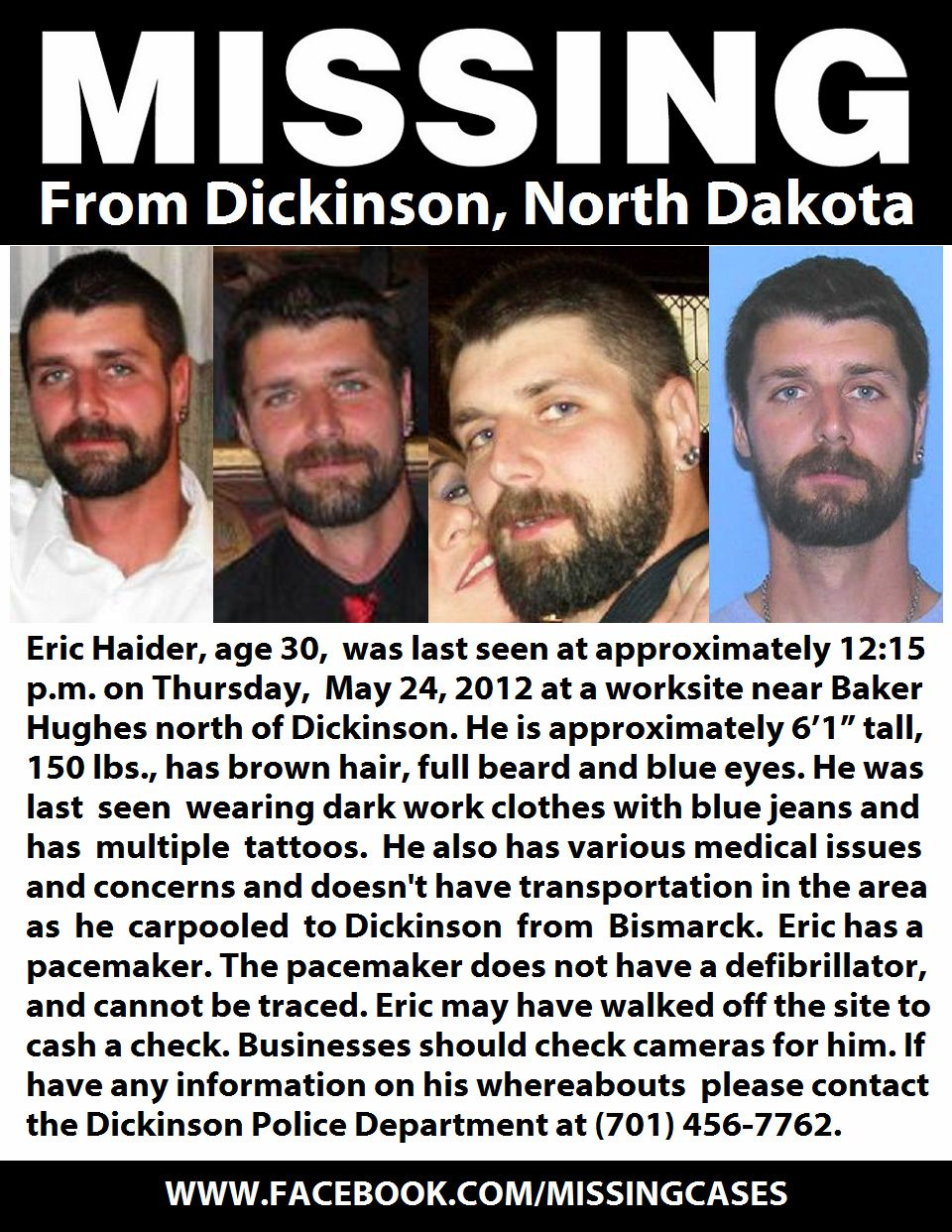 Locate The Missing on North dakota, Missing persons