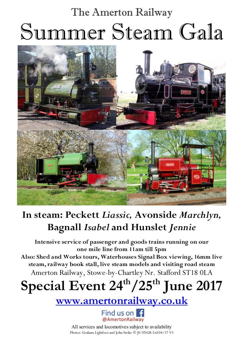 More of Neil Clarke's photos This time from Amerton Railway Photos after the poster for the Gala, taken a few years ago. Click on photo for a larger version. Save