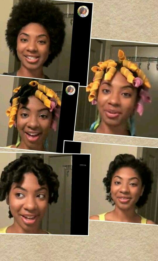 Curlformers On Short Hair 4c Dos Perm Rods Creative Hairstyles
